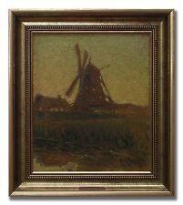 RUDOLF THORNBERG 1887-1966 / WIND MILL - Original Swedish 1940´s Oil Painting