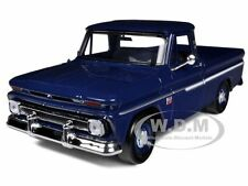 1966 CHEVROLET C10 FLEETSIDE PICKUP TRUCK DARK BLUE 1/24 BY MOTORMAX 73355