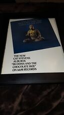 Cat Stevens Buddha And The Chocolate Box Rare Original Promo Poster Ad Framed!
