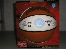 TYLER HANSBROUGH & TY LAWSON Signed UNC 2009 Champs Basketball North Carolina