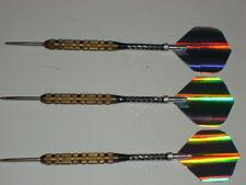 Steel Tip Darts, Used 17 Gram Brass, with New Alum Spin Shaft & Flights #2313