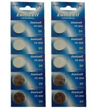 10 x CR2032 Long Lasting Power Eunicell 3 V Lithium button Cell Coin Battery