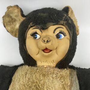 Vintage 1950s Rushton Chubby Tubby Plush Panda Bear NEEDS RESTORED