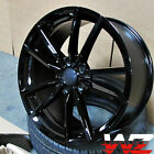 18x8 Black Wheels Fit VW Jetta Golf CC GTI Passat 19 Inch 5x112 +45 Rims Set 4