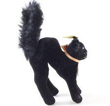 "Vintage Steiff 7410.00 Black Cat Standing 4"" Long W/ Button ca 1950s"