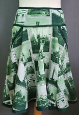 Rare ATO Berlin Jimmys Shop photos of Berlin green flared skirt pockets Sz Small