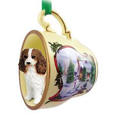 Cavalier King Charles Spaniel Dog Christmas Holiday Teacup Ornament Figurine ...