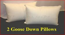 2 STANDARD SIZE PILLOWS - 95% GOOSE DOWN - 100% COTTON CASING - AUSTRALIAN MADE