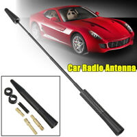 Black JDM Short Stubby Antenna Car Decor Screw Aerial Mast Adjustable Universal