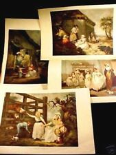 4 COLORED PRINTS ENGRAVER WILLIAM WARD, 2 PAINTED BY JAMES WARD