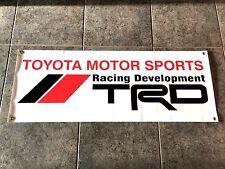 Toyota Motor Sports TRD Racing Development banner sign drifting off-road baja