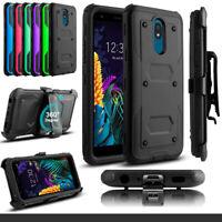 For LG Rebel 4 LTE/Journey Shockproof Case W/ Belt Clip Stand Holster Back Cover