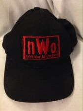 Vintage NWO Pro Wrestling Black With Red Logo Strapback Hat Cap WCW 1997