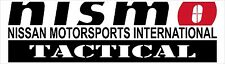 NISMO Tactical Nissan Motorsports Decal, Different Colors and Sizes