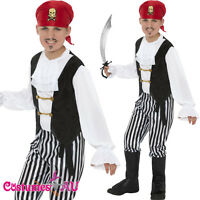 Boys Kids Pirate Caribbean Costume Buccanneer Halloween Book Week Fancy Dress