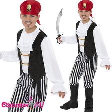 Boys Kids Pirate Caribbean Costume Buccanneer Halloween Book Week Fancy Dress