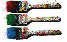 New Mr Brainwash weapon of choice show promo print popart banksy paintbrush Mint