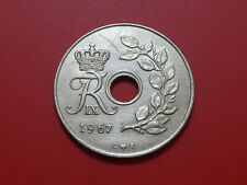 Denmark 25 Ore 1967, Holed coin