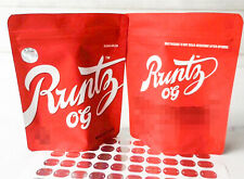 50 Runtz Og Red Matt Mylar bag 3.5 Gram  Empty Bags