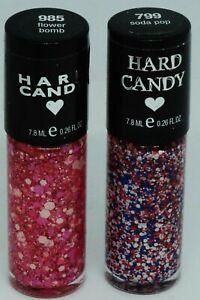 2 Shades Of HARD CANDY Nail Polish Nail Color SODA POP #799 & FLOWER BOMB #985