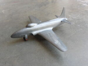 1950s Thomas Toy USAF Lockheed F80 Shooting Star Plastic Fighter Jet Airplane @@