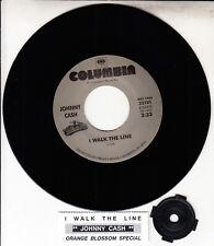 """JOHNNY CASH  I Walk The Line & Orange Blossom Special 7"""" 45 rpm vinyl record NEW"""