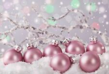 Christmas Purple Snowball 7x5ft Background Photography Props Show Backdrop