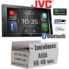 JVC Autoradio für Audi A6 4b 2001+ Bose CanBus 2-DIN Bluetooth MP3 USB Einbauset