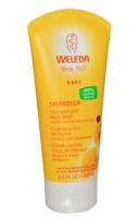 Weleda Calendula Baby Shampoo and Body Wash, 6.8 fl oz (200 ml)