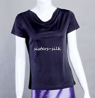 Women's Ladies 100% Pure Silk Knitted T Shirts Blouse Tops Tees AF057