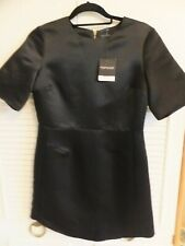 TOP SHOP BLACK SATEEN MINI COCKTAIL/PARTY DRESS UK 10 BNWT