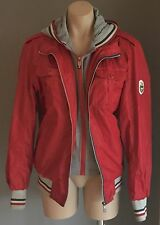 Great Condition Red & Multi Colour DINNITE Hoodie Sports Jacket XL 14/16