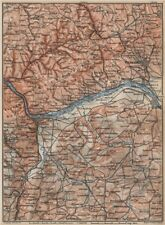 THE RHEINGAU topo-map. Wiesbaden Lorch Rüdesheim Mainz. Germany karte 1889