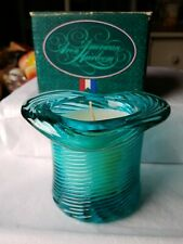 Avon Pitkin Hat Candle Holder With Smoker's Candle Green Top Hat New Smells Nice