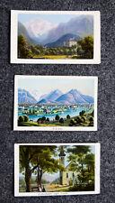 1870 Schweiz Berner Oberland Interlaken Jungfrau 3 kolorierte Aquatina-Ansichten