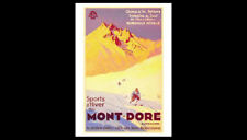 Skiing France MONT-DORE AUVERGNE Vintage 1935 French Alps SKI POSTER Reprint