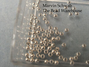 Sterling Silver Beads 2mm Round Heavy Wall 100 pc Made in the USA