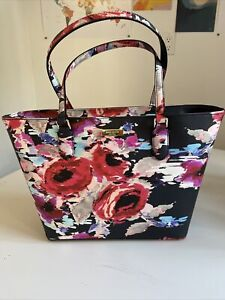 Kate Spade Laurel Way Printed Blurry Floral NEW Tote Bag Multi