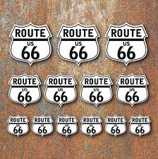 Route 66 Stickers Set Retro Classic Motorcycle Car Vdub Camper Caravan Hot Rod