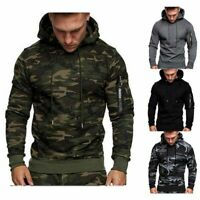 Men's Hoody Jacket Spring Fleeces Tops Sweatshirts Sweater Solid Hoodie Pullover