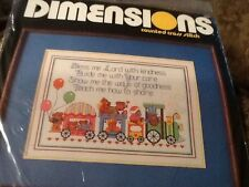 Dimensions Counted Cross Stitch ~ TEDDY BEAR BABY BLESSING ~ Vintage 1985