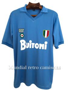 Maradona Napoli buitoni con escudo 1987/1988 jersey maglia camiseta (retro)