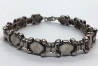 "Vintage Sterling Silver Bracelet 925 7"" Unique Chain Puffy 14 Grams"