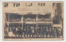 Real Photo Postcard Steuben House Stephen's Mills, New York Band In Front