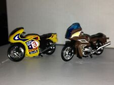 MOTORCYCLES CAKE TOPPER 2000 DECOPAC SET SUPER RARE DIECAST/PLASTIC MOTORCYCLES