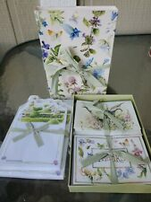 New Vtg Hallmark Marjolein Bastin Floral Butterfly 10 Note Cards 10 Thank You