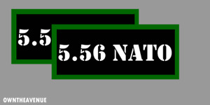 """5.56 Nato Ammo Can Labels for Ammunition Case 3.5"""" x1.50"""" stickers decals(2PACK)"""