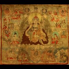 "Rare Large 19th Century Old Antique Tibet Temple Thangka Tangka ""Padmasambhava"""