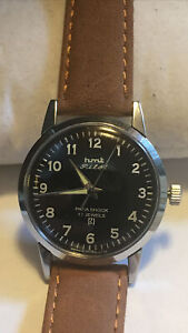 Vintage HMT Manual wind Pilot watch excellent Running condit New Leather Strap
