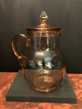 Rare, Vintage Pink Depression Glass Pitcher with Lid - Great Condition